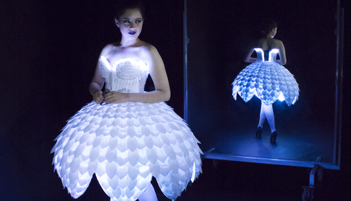 This Tech Dress Will Make You a Paper Doll #WearableWednesday #Wearabletech #Arduino « Adafruit Industries – Makers, hackers, artists, designers and engineers!