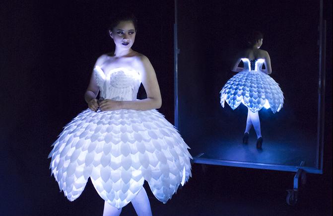 EsterHero-e1475633949147 This Tech Dress Will Make You a Paper Doll #WearableWednesday #Wearabletech #Arduino « Adafruit Industries – Makers, hackers, artists, designers and engineers!